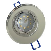Runder SMD Glas Einbaustrahler Laura | 230V | 5W STEP DIMMBAR | Klarglas