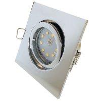 Flacher SMD LED Einbaustrahler Dario   220Volt   5Watt   STEP DIMMBAR   ET=32mm