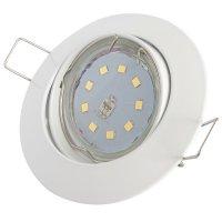 Flacher SMD LED Einbaustrahler Jan / 220Volt / 5Watt STEP DIMMBAR / ET=32mm
