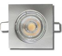 LED Einbaustrahler Tom | 230V | 7Watt | Dimmbar | Eckig | Silber der Weiss