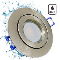 9 Watt / LED Badezimmer Einbauspot Marina 230Volt / IP44 / 900 Lumen / Ø=83mm