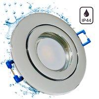 IP44   SMD LED Einbauleuchten Marina   9Watt   230Volt   Rund