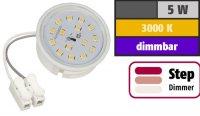 LED Einbaustrahler Tom | Flach | 230V | 5W | ET-28mm | Weiss | STEP DIMMBAR