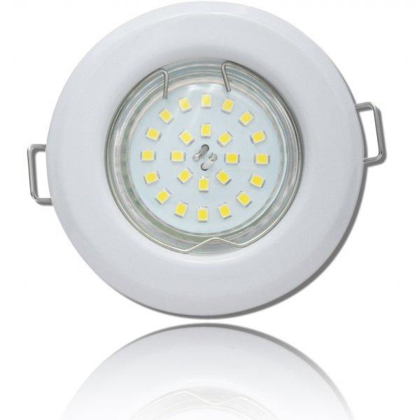 LED Einbaustrahler Tom | Flach | 230V | 5W | ET-28mm | Weiss | DIMMBAR