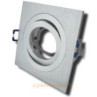 Aluminium Einbaurahmen / Gebürstet und Hochglanz poliert / 230V / OHNE Leuchtmittel