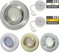 Flacher SMD LED Einbaustrahler Tomas | 230V | 5Watt |...