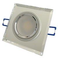 Eckiger Glas Einbaustrahler Laura | LED | 230Volt | 9Watt...