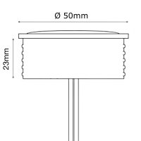 LED-Modul, 5Watt, 230Volt, 50 x 23mm, Warmweiß, 3000Kelvin, Milchglas