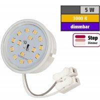 LED Einbaustrahler Tom | Flach | 230V | 5W | ET-28mm | STEP DIMMBAR