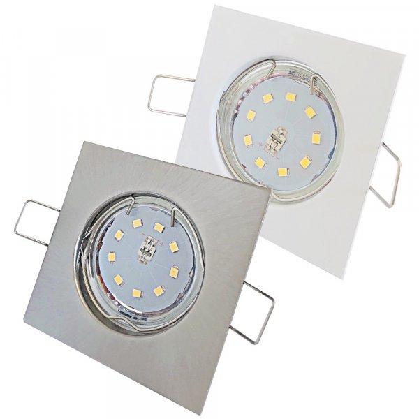 Flache SMD LED Einbaustrahler Tom / 230V / 7Watt / Eckig