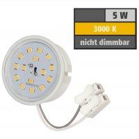 SMD LED Einbaustrahler Tom / 230V / 3W - 5W oder 7Watt / Eckig