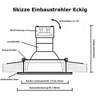 DIMMBAR / LED Einbaustrahler Dario / 230Volt / 7Watt / 520Lumen / Gu10