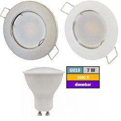 LED Einbaustrahler Tom / 230Volt / 7Watt / Dimmbar / Starr / 540Lumen
