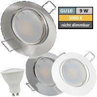 9 Watt LED Einbaustrahler Jan | 900 Lumen | 230Volt |...