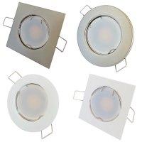SMD LED Einbaustrahler Tom / 230V / 9Watt / Eckig