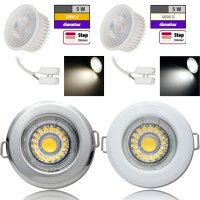 Flacher MCOB LED Einbaustrahler Tom | 230V | 5W | STEP...