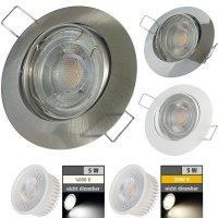 Flacher MCOB LED Einbaustrahler Jan | 230V | 5Watt | ET=32mm