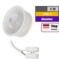 Flacher MCOB LED Einbaustrahler Jan | 230V | 5Watt | STEP DIMMBAR | ET=32mm