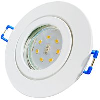 LED Einbaustrahler Marina / 230V / 7W / Loch = 60 - 68mm / ET = 32mm / IP44