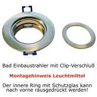 LED Einbaustrahler Marina / 230V / 7W / Loch = 60 - 65mm / ET = 32mm / IP44