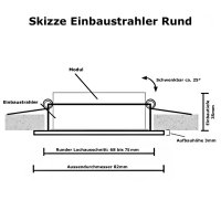 Flacher COB LED Modul Einbaustrahler Timo - 230Volt - 5Watt - STEP DIMMBAR