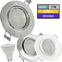 DIMMBAR / LED Einbaustrahler Tomas / 230Volt / 7Watt /...