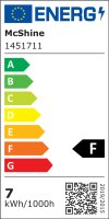 SMD LED Einbaustrahler Tom / 230Volt / 7Watt / 470Lumen / Eckig