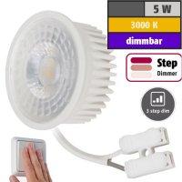 MCOB LED Modul, 5Watt, 400 Lumen, 230Volt, Step dimmbar,...