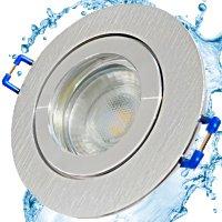 5W LED Bad Einbaustrahler Marina   12V   IP44   Rund   Klares Schutzglas   Ohne Transformator