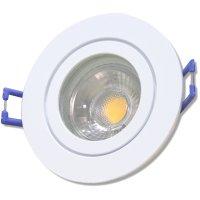 4er Set = 12Volt Bad Einbaustrahler Marina | IP44 | 3W | MCOB LED | inklusive LED Trafo 15Watt