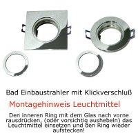 5er Set = 12Volt Bad Einbaustrahler Marina | IP44 | 3W | MCOB LED | inklusive LED Trafo 20Watt