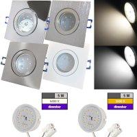 LED Einbaustrahler Marin / 230V / 5W / DIMMBAR / Loch=57 - 68mm / ET=32mm