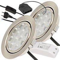 2er Set / Flache LED Einbauspots Lina / 12Volt / 3W / LED...