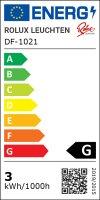3er Set / Flache LED Einbauspots Lina / 12Volt / 3W/  LED Trafo / 230V Netzkabel mit Schnurschalter