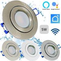 LED Einbaustrahler Marina / 230V / 5W / SMART WIFI / ET =...
