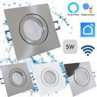 LED Einbaustrahler Marin / 230V / 5W / SMART WIFI / ET =...