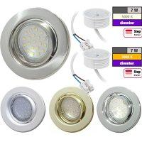Flacher SMD LED Einbaustrahler Tomas | 230V | 7W | STEP...