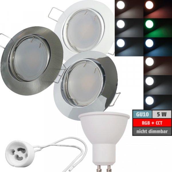 LED Modul Einbaustrahler Jan   230V   5W   Smart Wifi   RGB + CCT   GU10