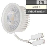MCOB LED-Modul, 5Watt, 400 Lumen, 230Volt, 50 x 23mm, Neutralweiss, 4000Kelvin