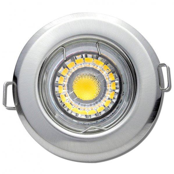 LED Einbaustrahler Tom / 230V / 5Watt / 400Lumen / Silber
