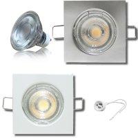 MCOB LED Einbaustrahler Tom / 230V / 7Watt / Eckig /...