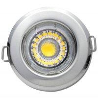 LED Einbaustrahler Tom / 230Volt / 7Watt / Dimmbar / Silber