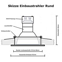 LED Einbaustrahler Tom / 230Volt / 7Watt / Dimmbar / Weiss