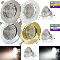 Einbaustrahler Tomas / LED Leuchtmittel 230Volt / 7Watt /...