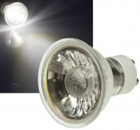 Runder Glas Einbaustrahler Laura   LED   230Volt   7Watt   Starr   Klarglas