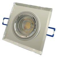 Eckiger Glas Einbaustrahler Laura | LED | 230Volt | 5Watt...