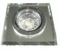 Eckiger Glas Einbaustrahler Laura   LED   230Volt   7Watt   Starr   Klarglas