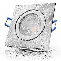 12Volt Bad Einbaustrahler Marin / IP44 / 3W / MCOB LED / Eckig / inklusive LED Treiber