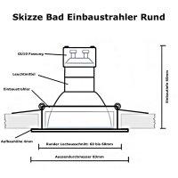 IP44 | SMD LED Einbauleuchten Marina | 5Watt | 230Volt |...