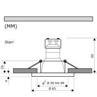 IP44 | SMD LED Einbauleuchten Marina | 7Watt | 230Volt |...